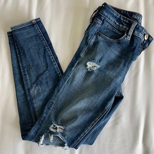 American Eagle Ripped High Waisted Jegging - Size 6 Regular